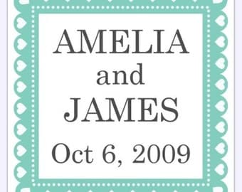 Custom Wedding or Bridal Shower Labels, Stickers - 2 inch SQUARE - Personalized for YOU