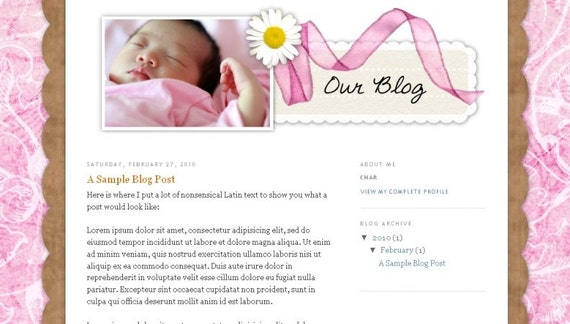 Custom BLOG DESIGN and installation - blog will be customized/personalized FOR YOU and your family or business  (using BLOGGER/BLOGSPOT)