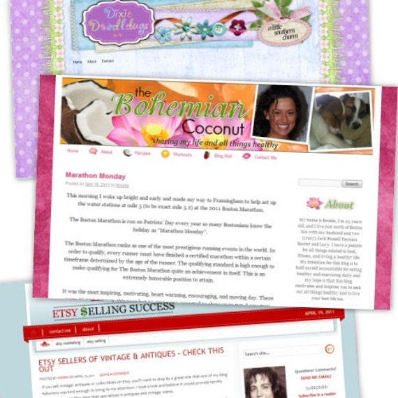 Brand New Custom BLOG DESIGN and installation - www.yourname.com - with WORDPRESS