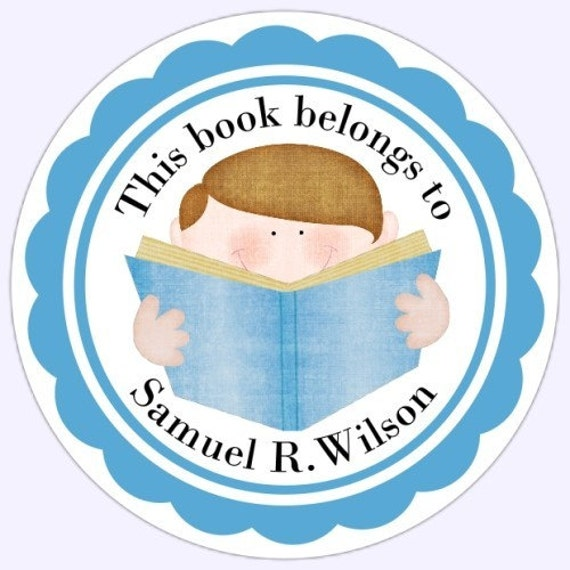 Custom (Book Belongs To) Bookplate Labels, Stickers - Personalized Children Stickers, Personalized for YOU