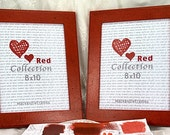 10x8 Red Deluxe Photo Frame Hand Painted