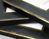 4x6 Quality Photo Frame in Black and Gold