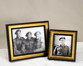 7x9 Antique Style Black and Simple Gold Frame for Photos and Other Images