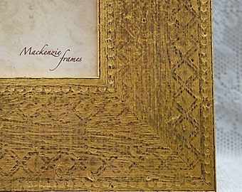 8x10 Engraved Gold Photo Frame of Superb Quality
