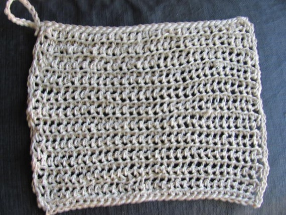 Extra Large  Organic Hemp Body Washcloth