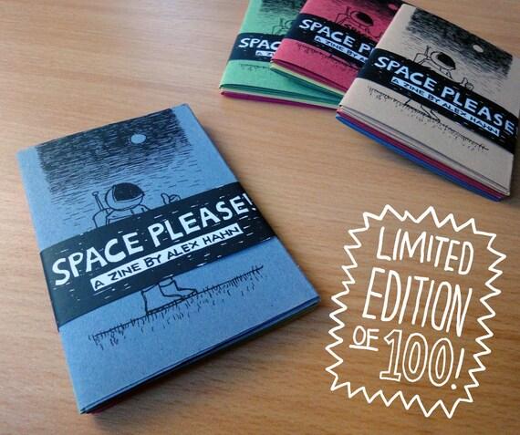 SPACE PLEASE -a zine/poster set by Alex Hahn LAST Copy!