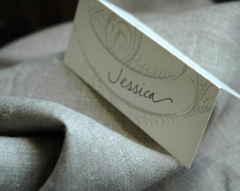 Ornate Calligraphy Place Card Set