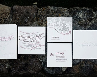 elegant cursive wedding invitation