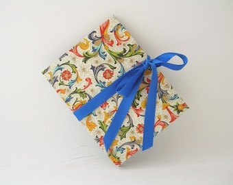 Accordion book- royal blue Italian Florentine (3x4in.) - Ready to ship