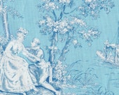 ROBIN EGG BLUE TOILE mod girls jennifer paganelli sis boom for free spirit fabrics yard