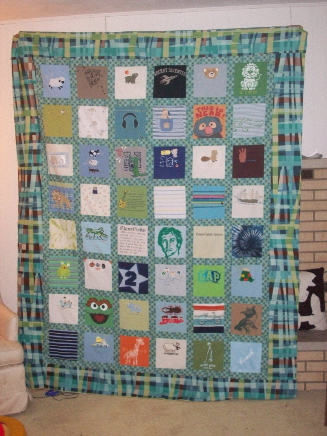 Large Baby Clothes Quilt