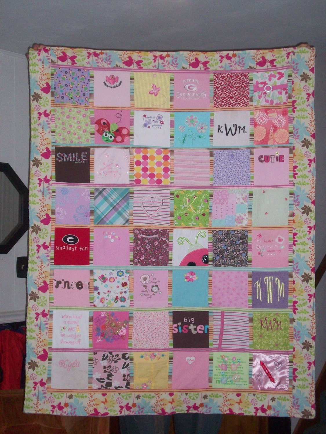 Baby clothes quilt for What to do with an old quilt