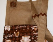 iPad Carrying Bag iPad Case iPad Pouch Shoulder Strap Coffee