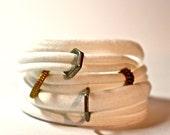 Bracelet Cuff Women - Bracelet Womens Cuff - White w/ rings - Womans Bracelet - Bracelet - Cuff