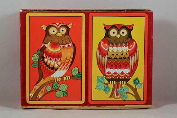 Congress Owl Playing Cards 2 Decks in Box New