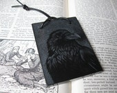 Raven Talisman- Original Engraving on Marble