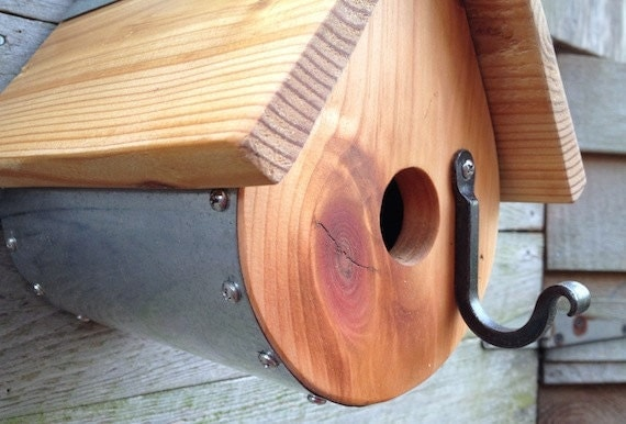 Birdhouse Teardrop Shape, Knotty Pine and  Cedar