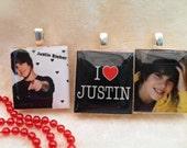 Justin Bieber Scrabble Tile Necklace