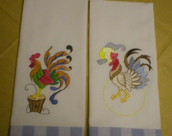 Rooster dish towels