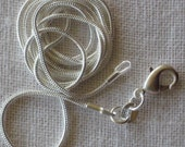 20 inch 2mm Silver plated Snake Chain. Various Sizes. High Quality.