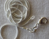 30 inch 2mm  Silver plated  Snake Chain or Necklace.  Bulk sales welcome.