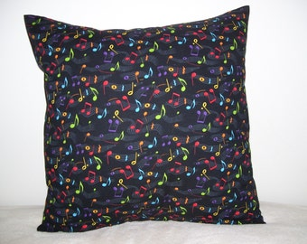 Colorful Musical Notes Pillow Covers - Set of 2