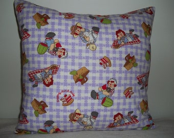REDUCED PRICE - Raggedy Ann & Andy Pillow Covers - Set of 2