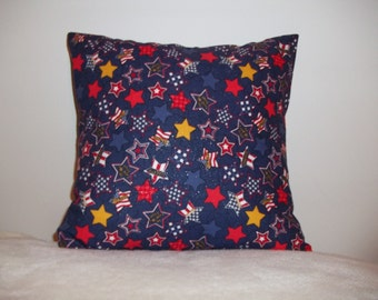 Patriotic Stars Pillow Covers - Set of 2