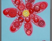Button Flower All Occasion Card (Sale)