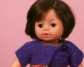 Kimono-Style Doll Shrug (Crochet or Knit Pattern)