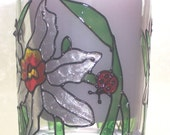 Hand Painted Glass Votive