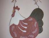 Hand Painted Country Chicken Wall Decor