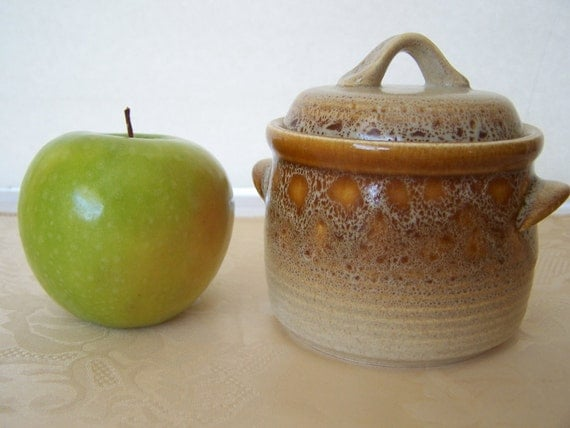 CLEARANCE Vintage 70's Mikasa - Sugar Bowl with Lid- Nature's Song Pattern, Retro