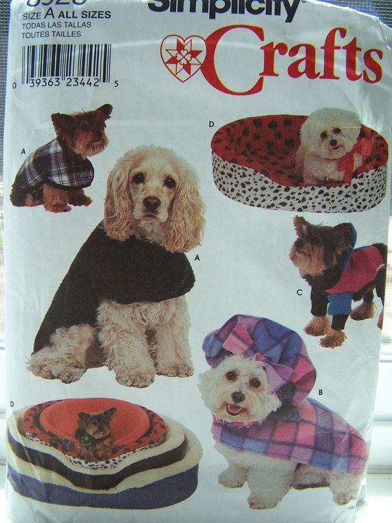 Dog Coats, Dog Bedding, Dog Wardrobe, Pet Clothing, Sewing Pattern, Simplicity 8928
