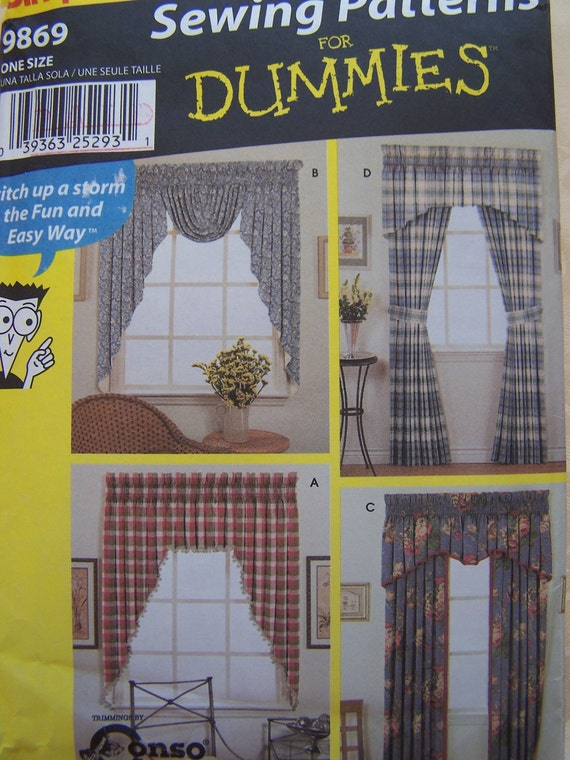 Curtain Sewing Pattern Simplicity 9869 Sewing Patterns For