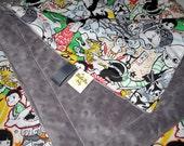 TokiDoki Gray travel blanket