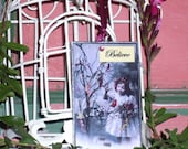 Believe - Postcards from Heaven - Cute Little Girl with Birds Soldered Glass Ornament