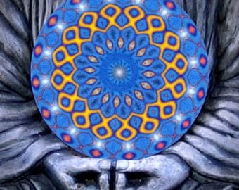 Blue Mercedes Mandala Healing Altra Cloth