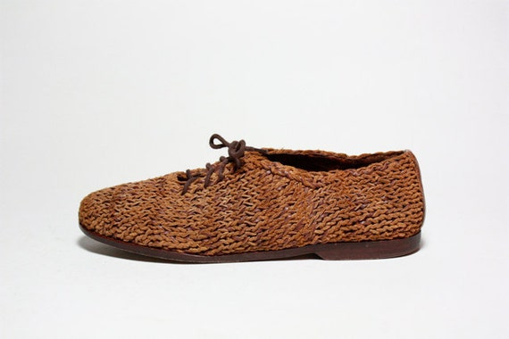 Avant Garde Braided Leather Oxfords 7.5