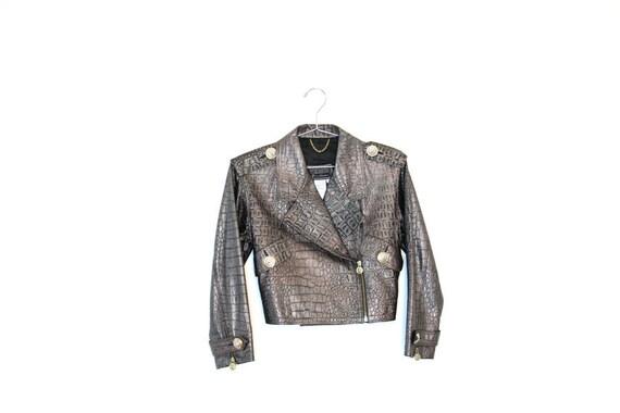 Versace Moc Croc Motorcycle Jacket