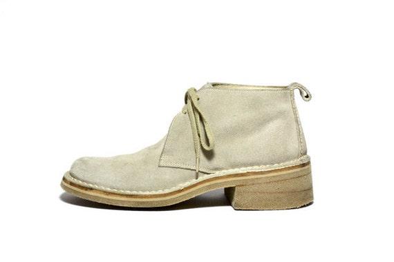 VTG 90's Calvin Klein Lace Up Desert Ankle Boots 9