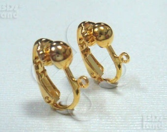 sales -30% / D303GD / 8Pc / 16x12mm - Gold Plated Lever-back Clip-On Earrings / Non-pierced Earrings Findings