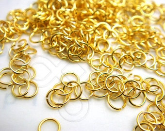 last stock / C212GD / 5Gm *270Pc / D4mm x 24gauge - Gold Plated Soft 4mm Jump Rings / Open Rings Findings