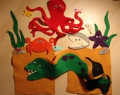 Tickly Octopus ( by Ruth Galloway) Felt Set
