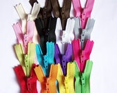 Wholesale 100 Assorted 16 Inch Ykk Zippers perfect for skirts, dresses, pouches, purses, pillows, handbags and more