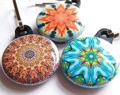Kaleidoscope Zipper Pulls 3 piece Autumn Sunset Pack