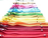 SALE 50 Assorted 4 Inch YKK Zippers red bright orange  yellow blue  green purple white brown chocolate gray hot pink bubble gum magenta