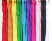7 Inch Rainbow Zipper Sampler 10 ykk purse and pouch zippers