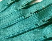Ten Aquamarine 8 Inch Zippers YKK Color 049