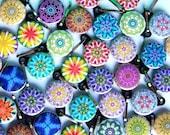 25 Assorted Kaleidoscope Zipper Pulls